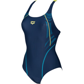 arena Energy Swim-Pro One Piece Swimsuit Damen navy-soft green